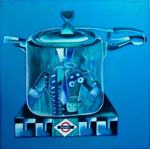 Cooking Dreams_36x36_acrylic on canvas_80,000 INR