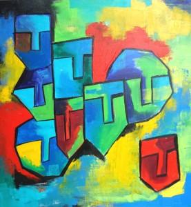 Hide'n'Seek-13_36X36_Acrylic on canvas_40,000 INR