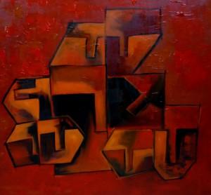 Hide'n'Seek-14_36X36_Acrylic on canvas_40,000 INR