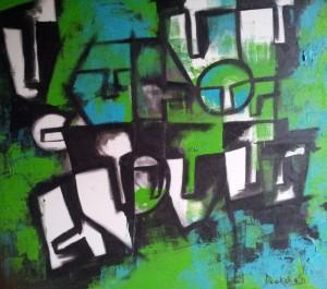 Hide`n`Seek-1_36X36_Acrylic on canvas_40,000 INR