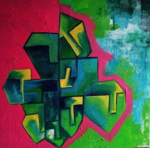 Hide'n'Seek-2_36X36_Acrylic on canvas_40,000 INR