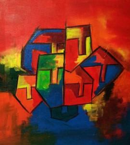 Hide'n'Seek-4_24X24_Acrylic on canvas_25,000 INR