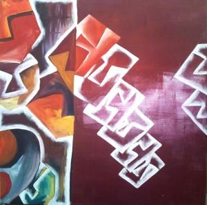 Hide'n'Seek-6_24X24_Acrylic on canvas_25,000 INR