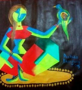 Ladybird-2_30x30_Acrylic on canvas_30,000 INR