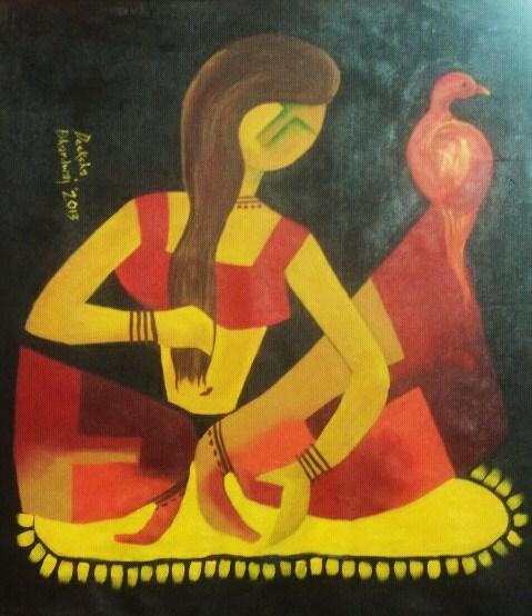 Ladybird-3_30x30_Acrylic on canvas_30,000 INR