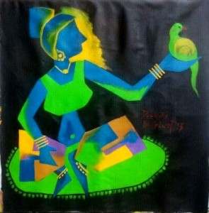 Ladybird-4_30x30_Acrylic on canvas_30,000 INR