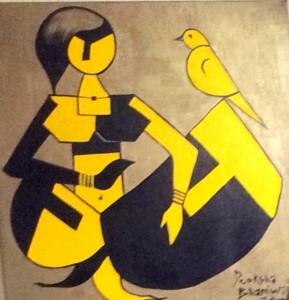 Ladybird_30x30_Acrylic on canvas_SOLD