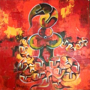 Let me be..ME-7_36X36_Acrylic On Canvas_40,000 INR