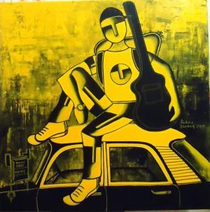 Mai Banunga Superstar_36x36_acrylic on canvas_80,000 INR