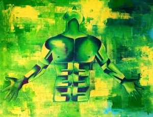 Relatively Yours III SURRENDER36X48acrylic on canvas 50,000 INR