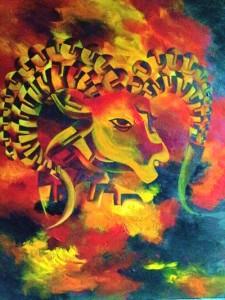 Zodiac ARIES 30x40 Acrylic on canvas 35,000 INR