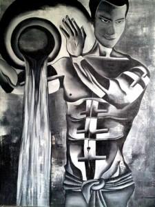 Zodiac Aquarius 30x40 Acrylic on canvas 35,000 INR