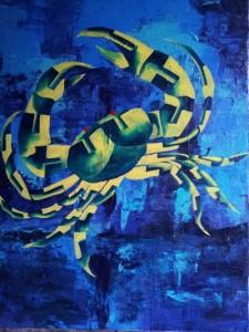 Zodiac CANCER 30x40 Acrylic on canvas 35,000 INR