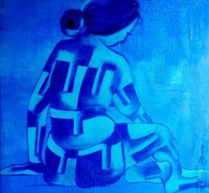 wait-1 24X24 acrylic on canvas 25,000 INR