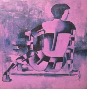 wait 2 36X36 acrylic on canvas 40,000 INR